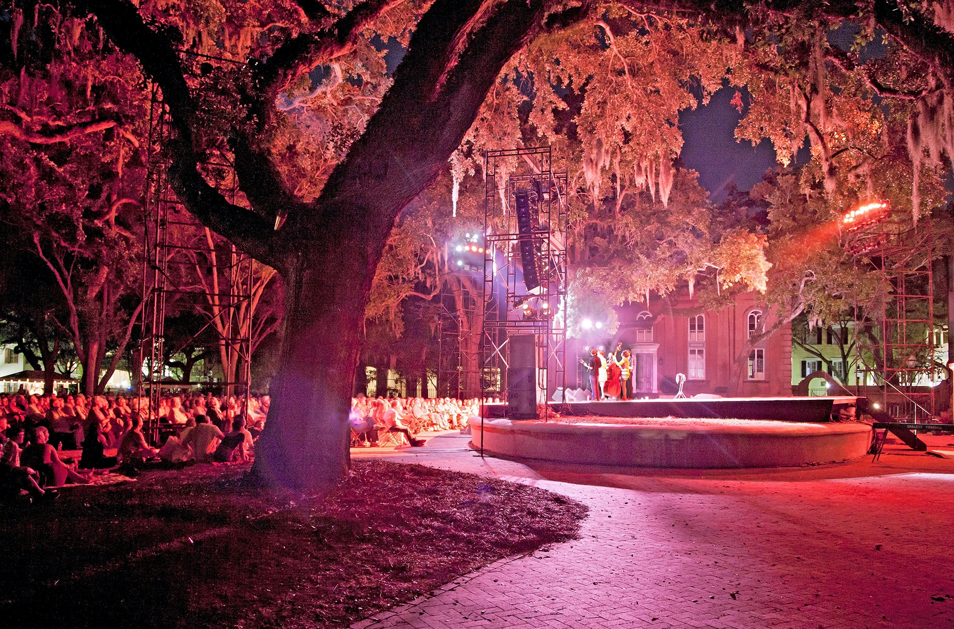 The music is not the only magic during concerts at the College of Charleston Cistern Yard.