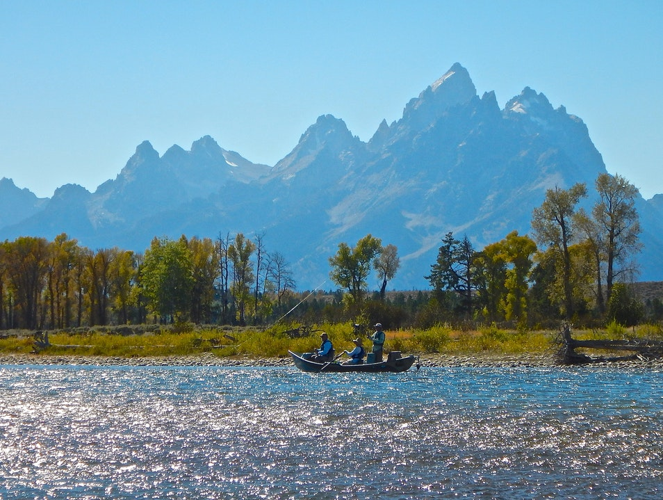 Snake River fly-fishing, Grand Teton National Park, WY