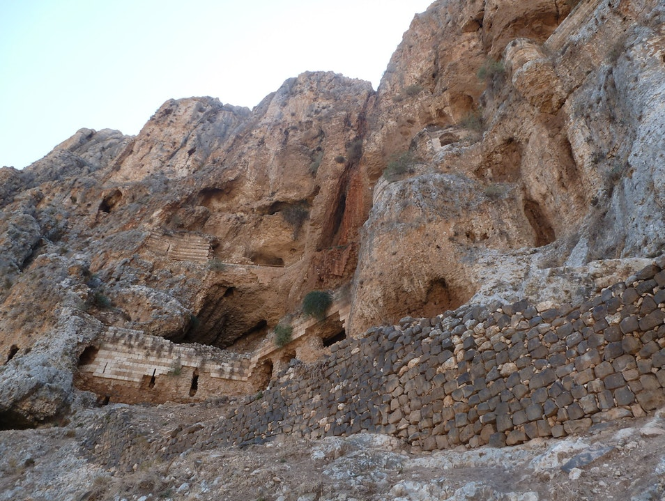 Hiking the Cliff at Arbel National Park
