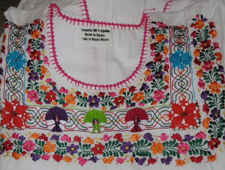 Beautiful Embroidered Blouses and Dresses San Antonino Castillo Velasco  Mexico