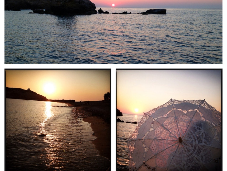 A Perfect Place For Greek Island Sunset Watching