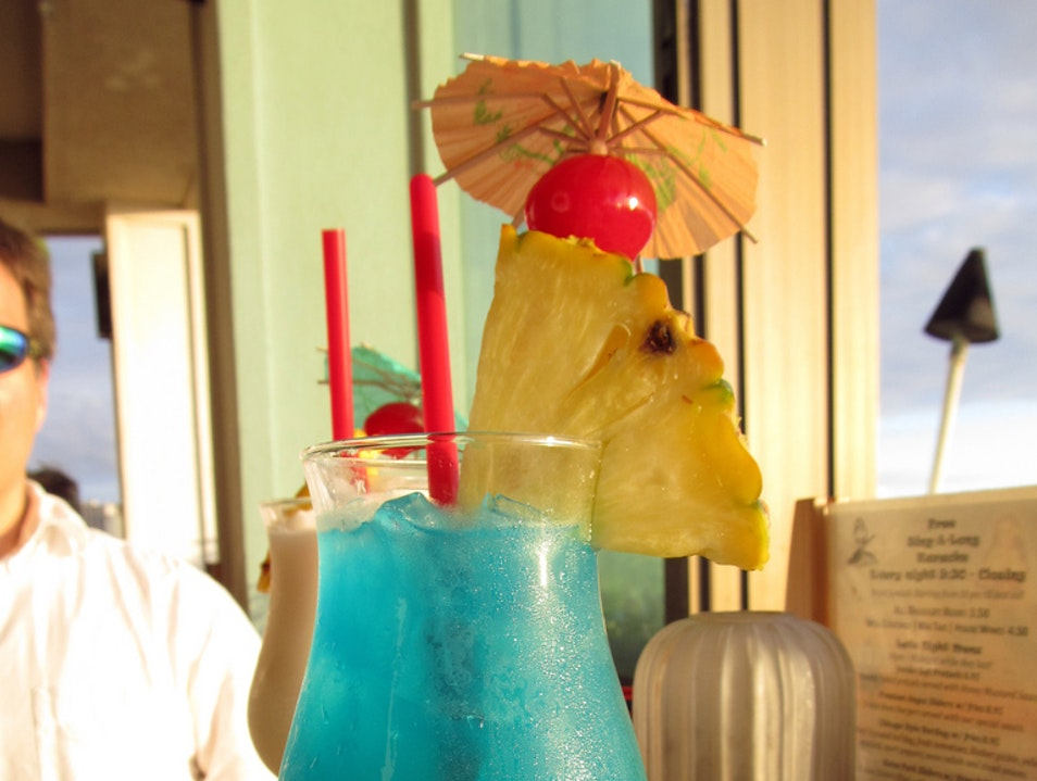 Cooling off with a Blue Hawaii Honolulu Hawaii United States