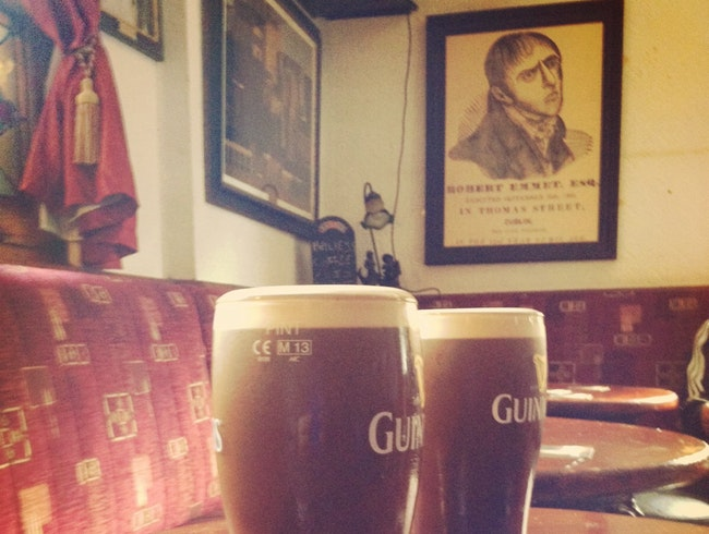 Skip the Guiness Factory—grab a pint at an authentic Irish Pub