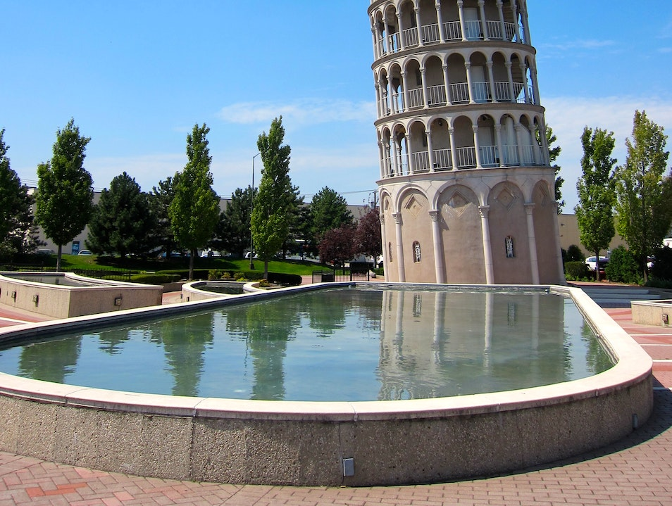 The 'Other' Leaning Tower of Pisa Niles Illinois United States