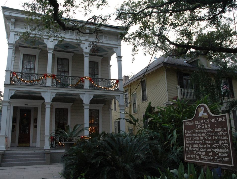 Visit Artist Edgar Degas's Roots in Tremé New Orleans Louisiana United States