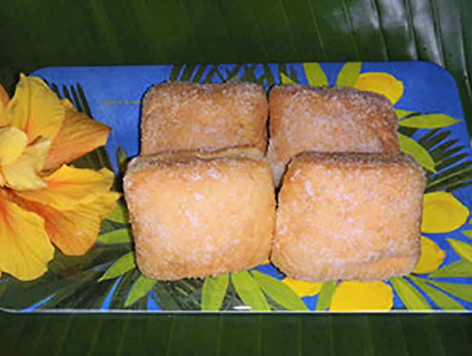 Malasadas and Hawaiian Favorites at Tex Drive-In Honokaa Hawaii United States