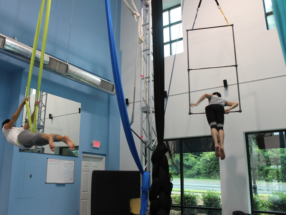 Aerial Yoga and Acrobatics at Sky Gym Atlanta Georgia United States