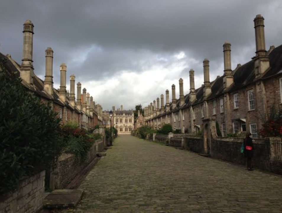 Stroll the only complete medieval street left in England Wells  United Kingdom