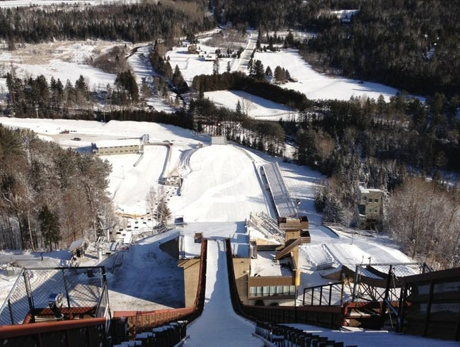 Looking Down the Ski Jump
