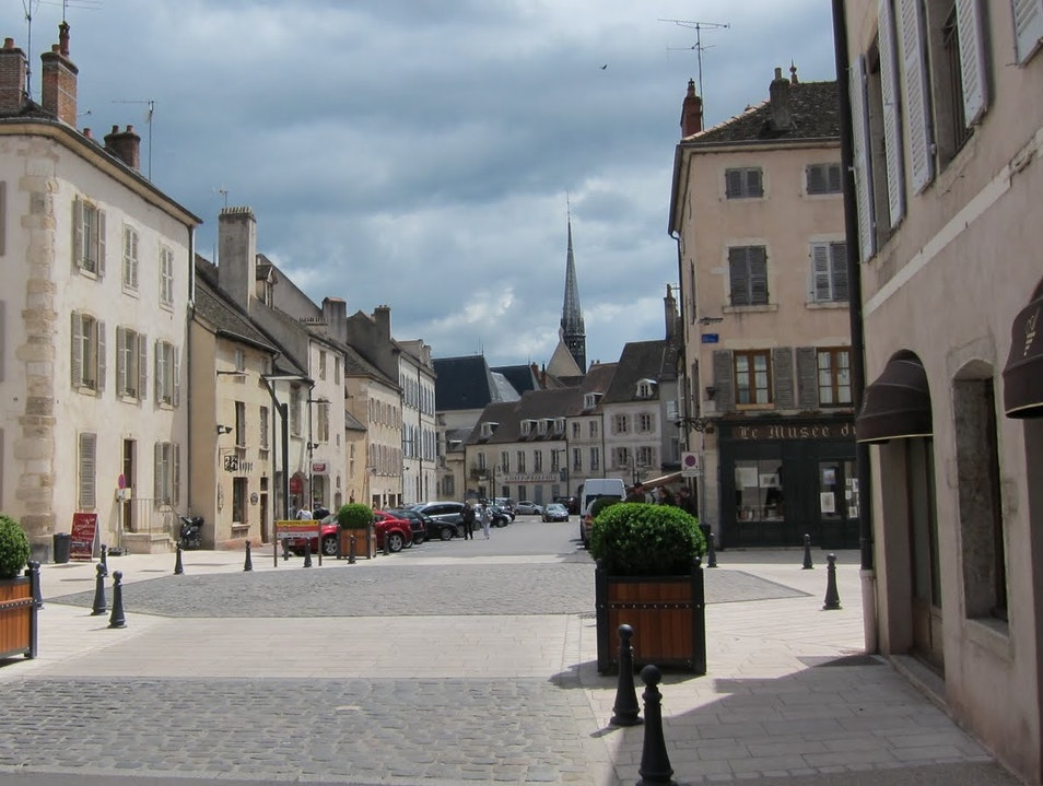 Picturesque view of Burgundy's wine capital Beaune  France