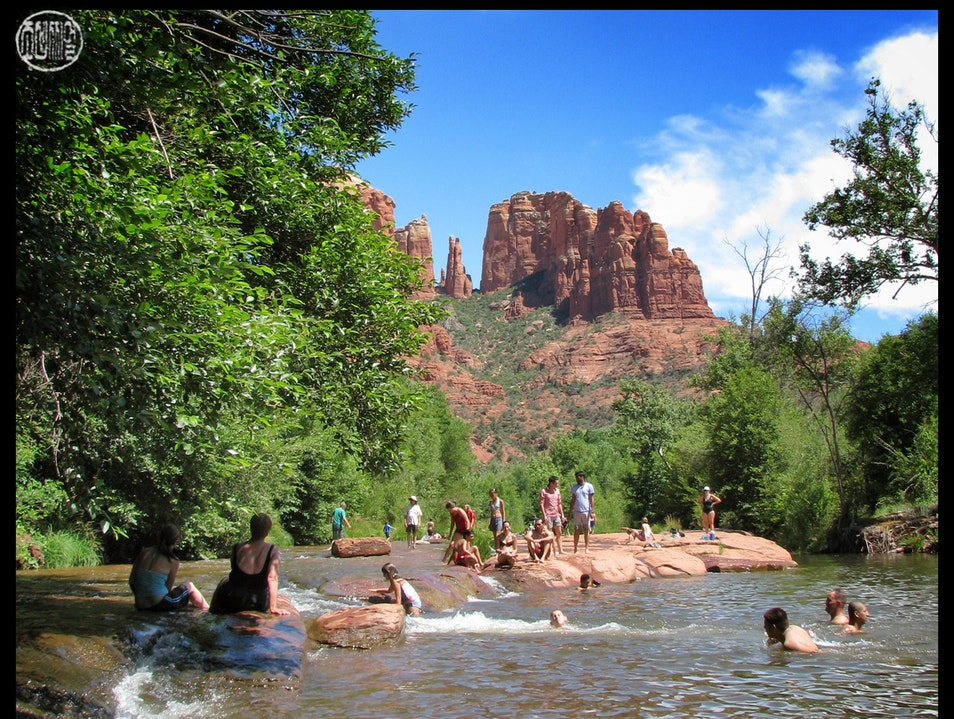 swimming downstream from Sedona Sedona Arizona United States