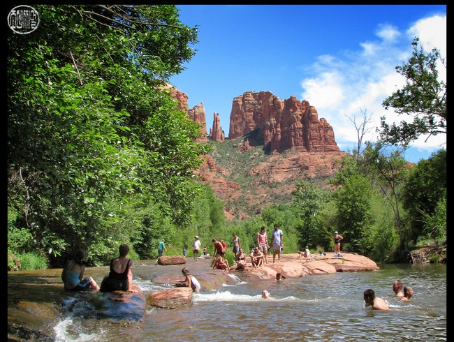 swimming downstream from Sedona