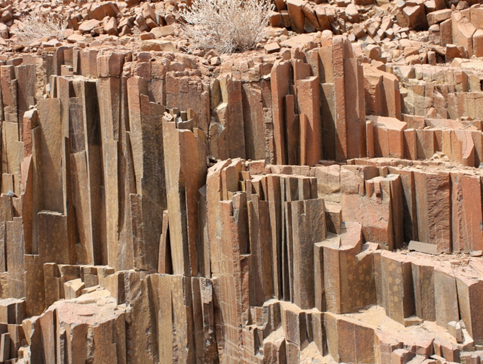 Walking Among the Organ Pipes Kunene  Namibia