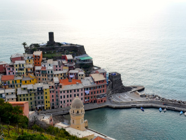 Late afternoon hike across Cinque Terre