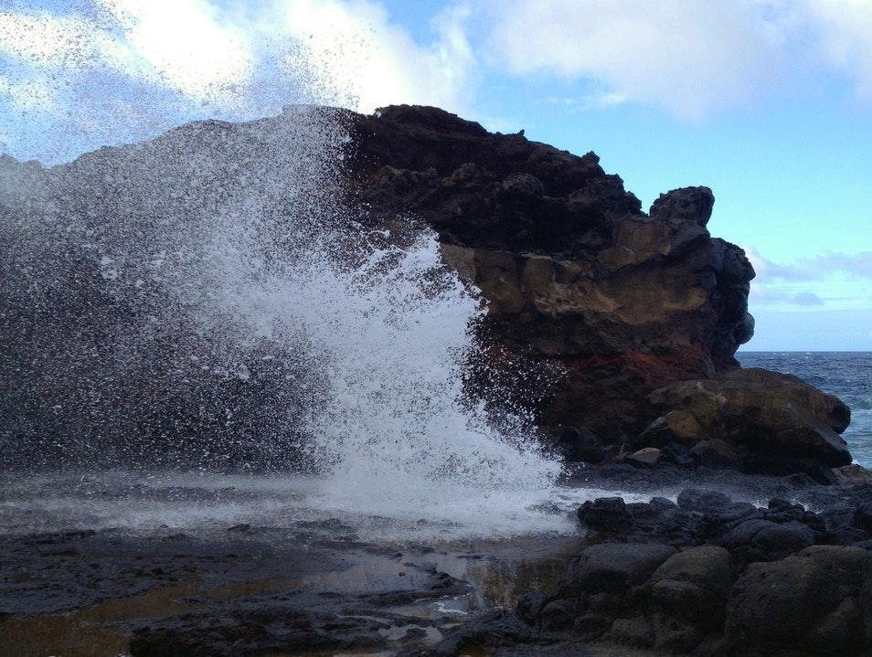 Baby Hike to the Blowhole