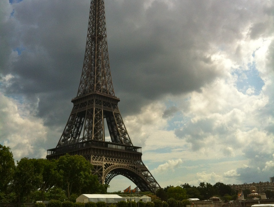 Eiffel Tower from Bateaux Cruise of the Seine Guerville  France