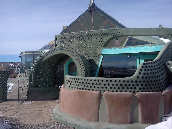 Staying overnight in an Earthship