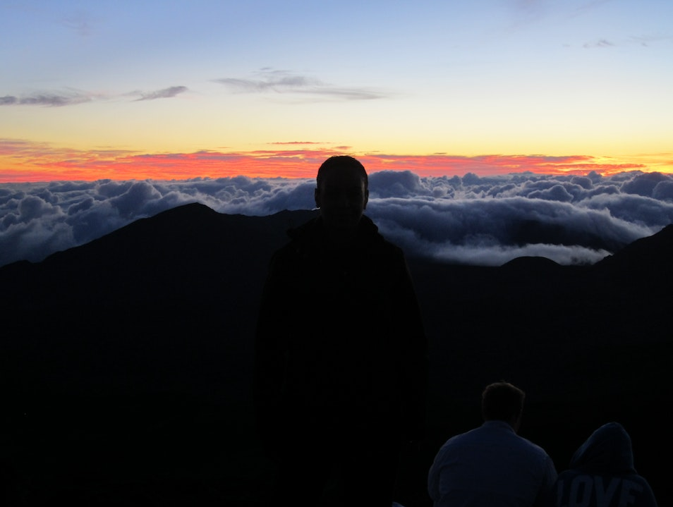 Waiting for the sun to rise over Haleakala