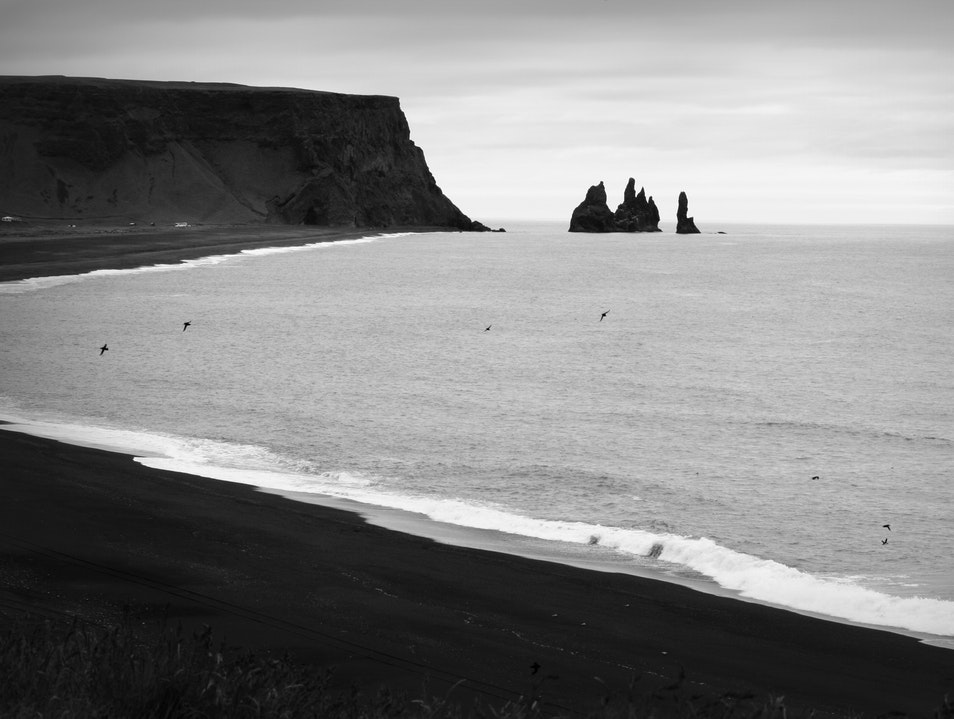 The view from Dyrhólaey Vik  Iceland