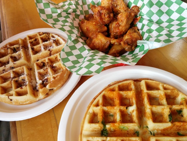 These Wings and Waffles Are a Slam Dunk