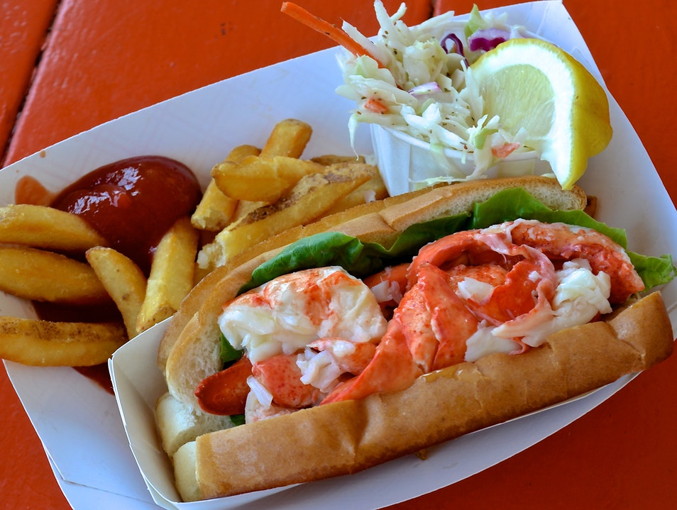 Maine's Lobster Roll—Crackin' Good Portland Maine United States