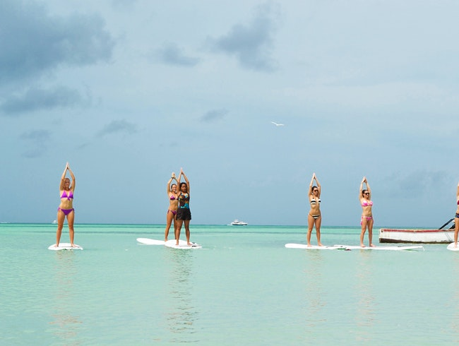 Paddleboard Yoga in Aruba