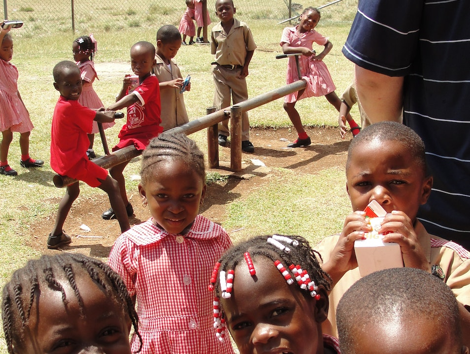 Recess at Manchioneal Primary School