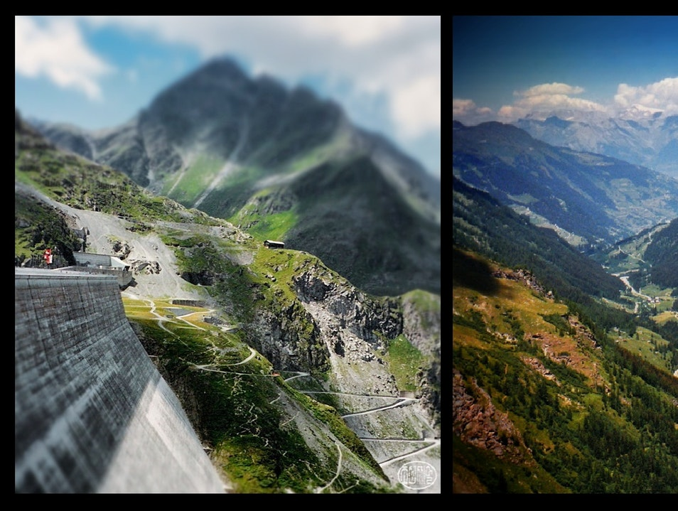 from the highest dam in Europe...