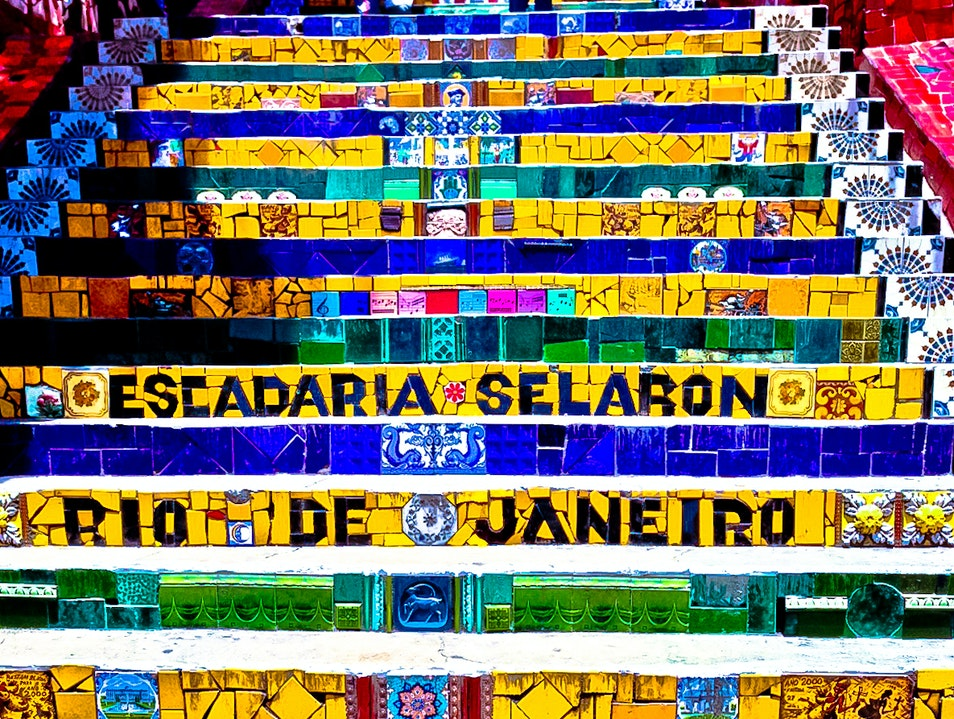 The Great Madness - The Selaron Stairway in Rio de Janeiro, Brazil Rio De Janeiro  Brazil