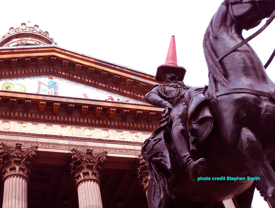 The Crowning of Duke Wellington by the Gallery of Modern Art Glasgow  United Kingdom