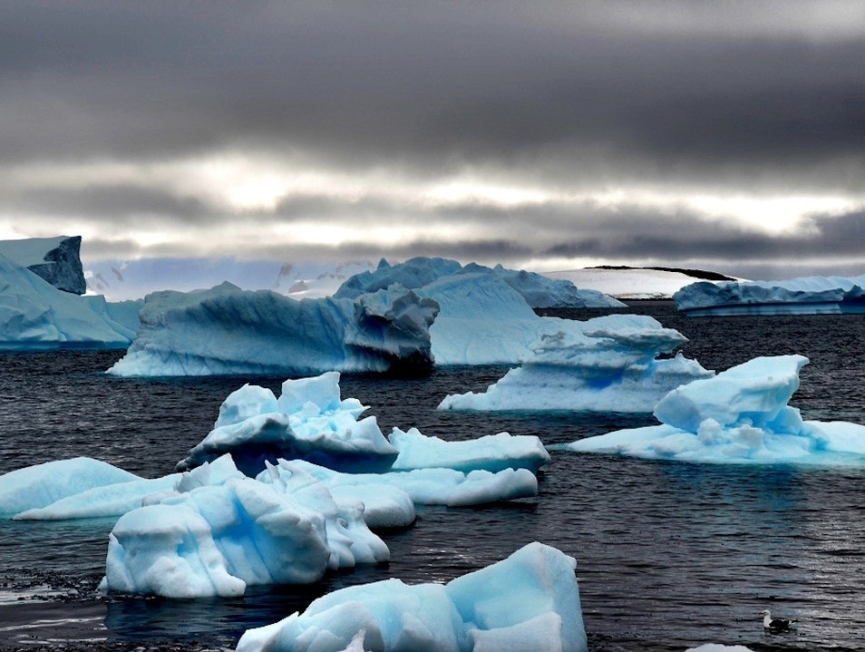Mountains of Ice in Antarctica