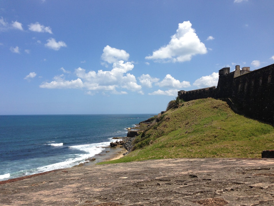 Climbing the Ramparts of an Old Fortress San Juan  Puerto Rico