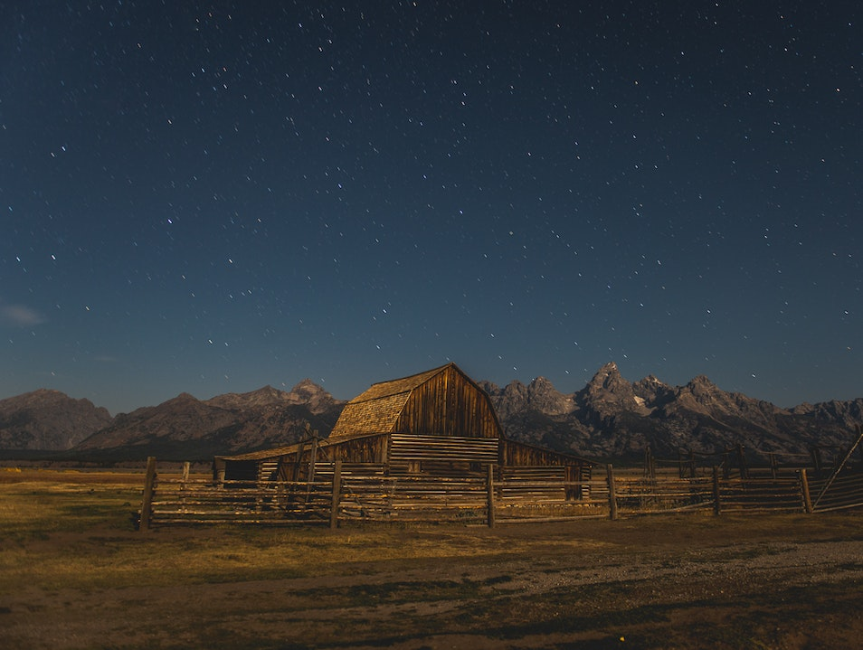 Visit Mormon Row at Night Moose Wyoming United States