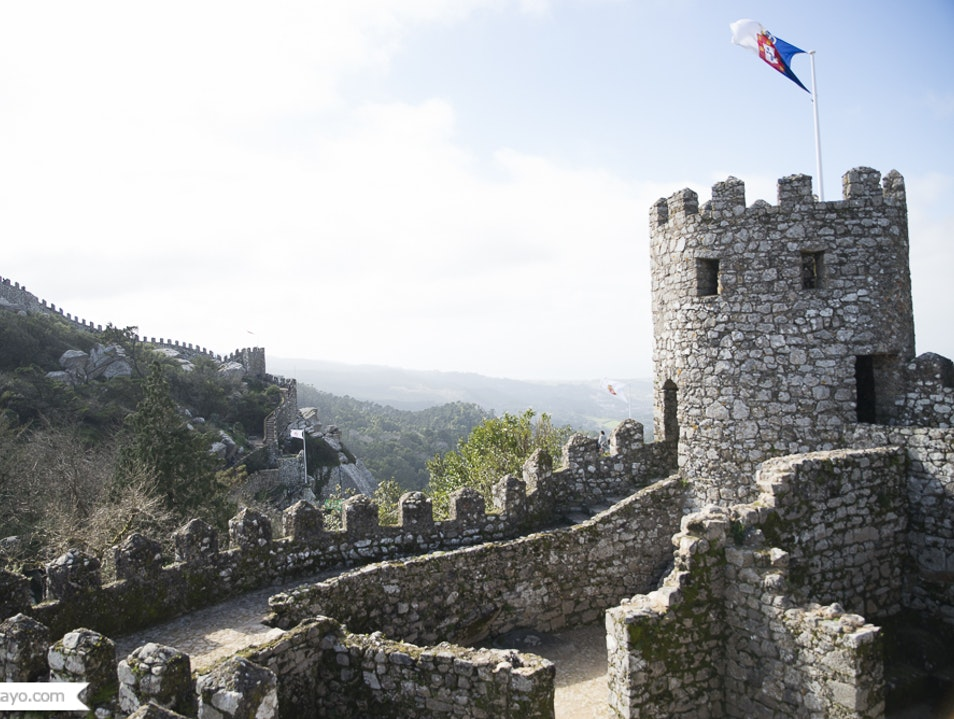 The Moorish Castle in Sintra  Sintra  Portugal