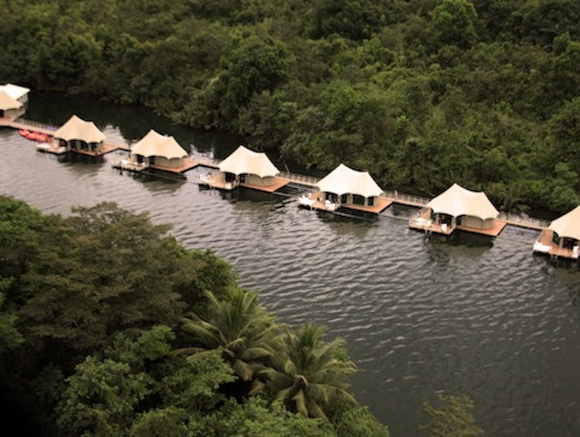 Overwater Bungalows: 4 Rivers Floating Lodge, Cambodia