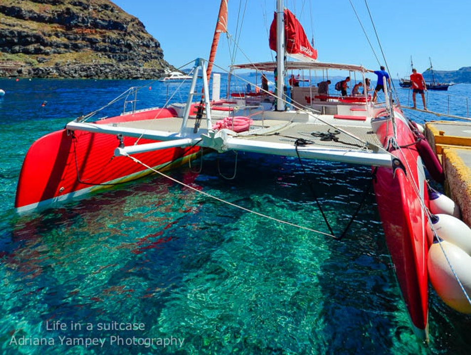 Catamaran tour Oia  Greece