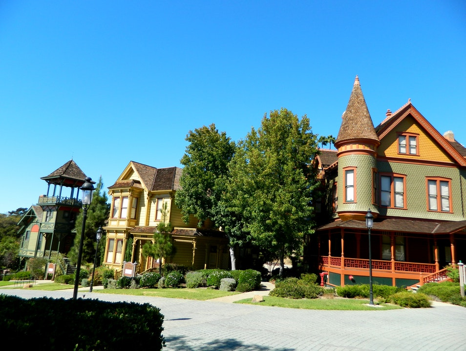 Park showcasing Victorian homes in Old Town