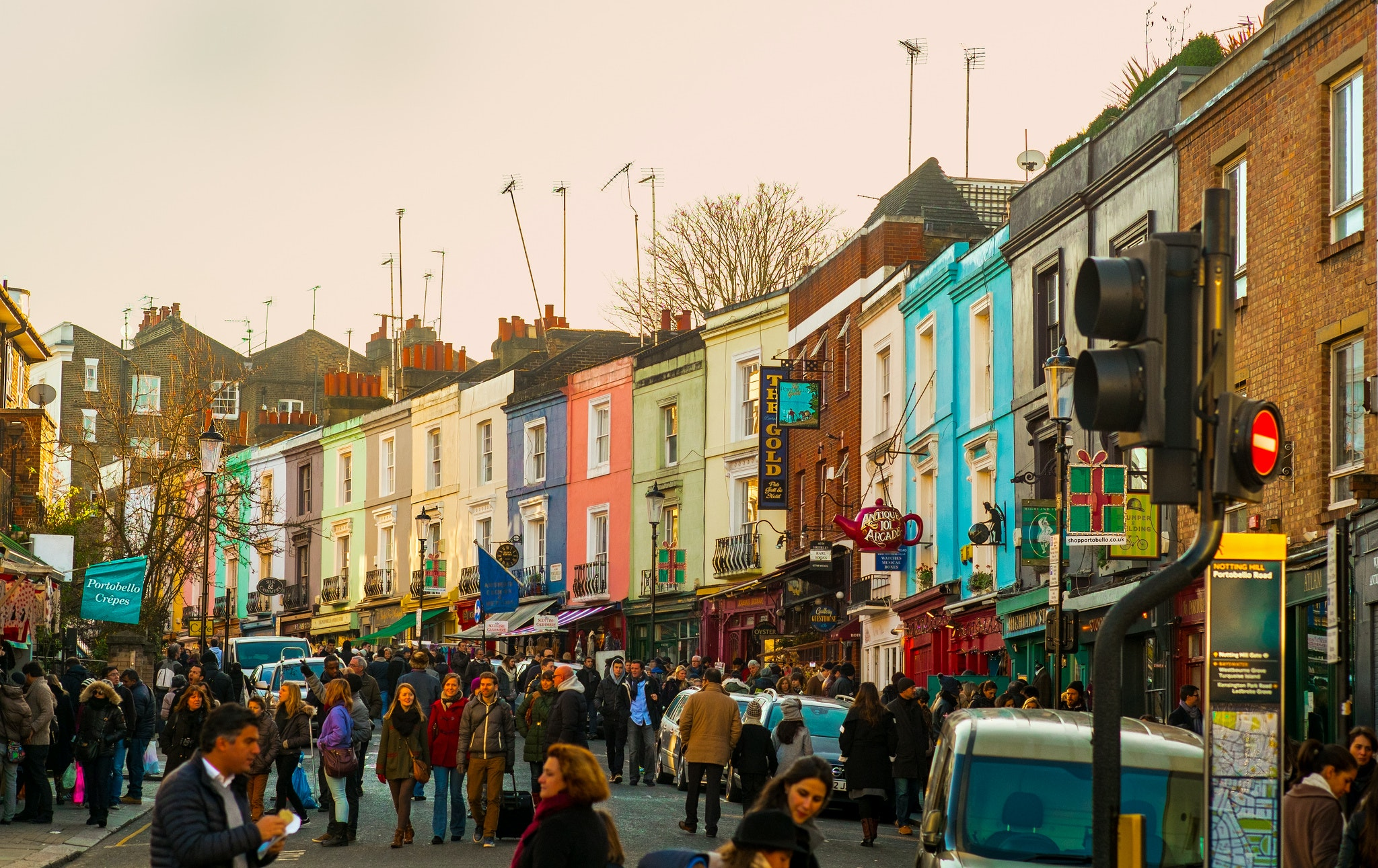Portobello Road Market London United Kingdom Afar