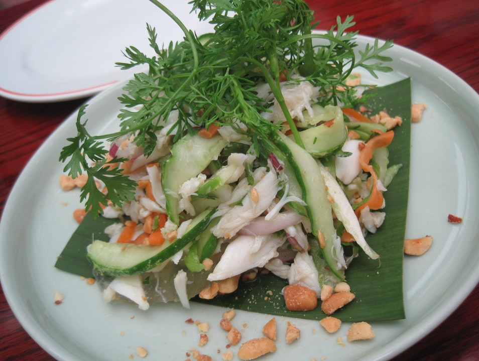 Fresh Vietnamese cookery at Ba Mien Hanoi  Vietnam