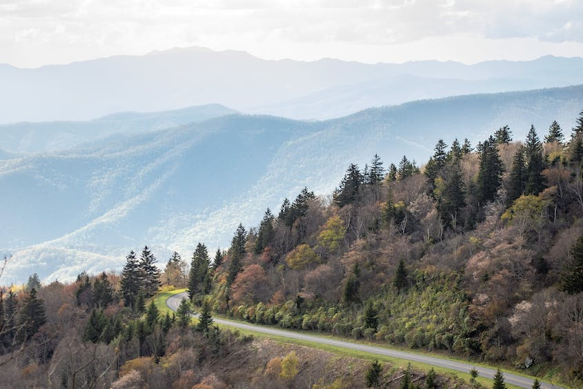 Many of the Blue Ridge Parkway's best views are near Asheville.