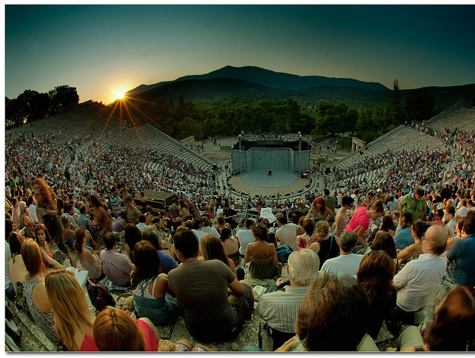 A City with a Theater for 15,000 Panorama  Greece