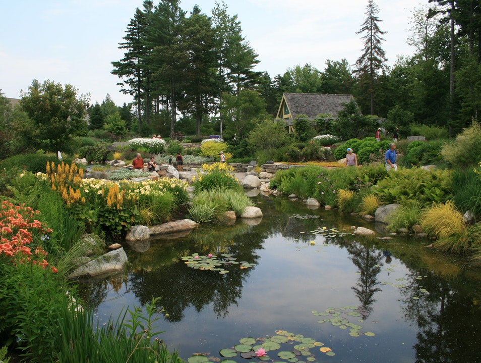 Pond at Lerner Garden of the Five Senses  Boothbay Maine United States