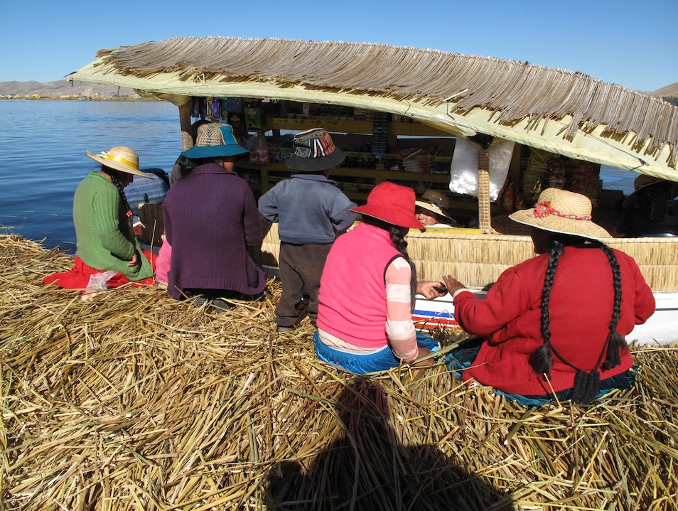 Floating Grocery Store in Uros   Peru