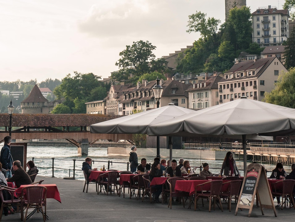 Local Specialties with Romantic Lake View Luzern  Switzerland
