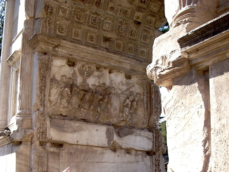 A Closer Look at the Arch of Titus Rome  Italy