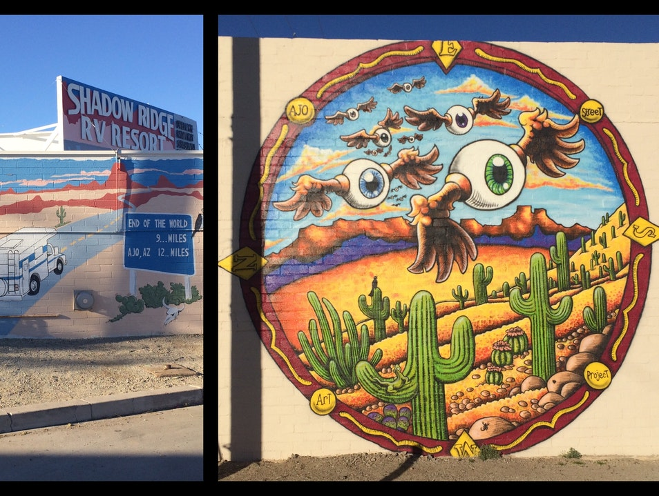 Ajo's vibrant street art project Ajo Arizona United States