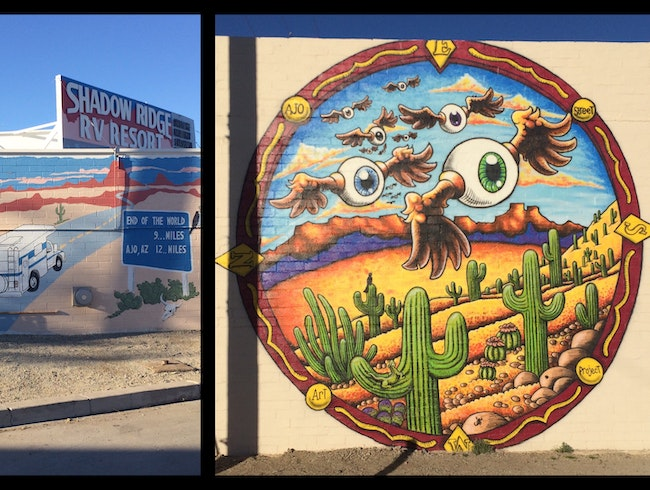 Ajo's vibrant street art project