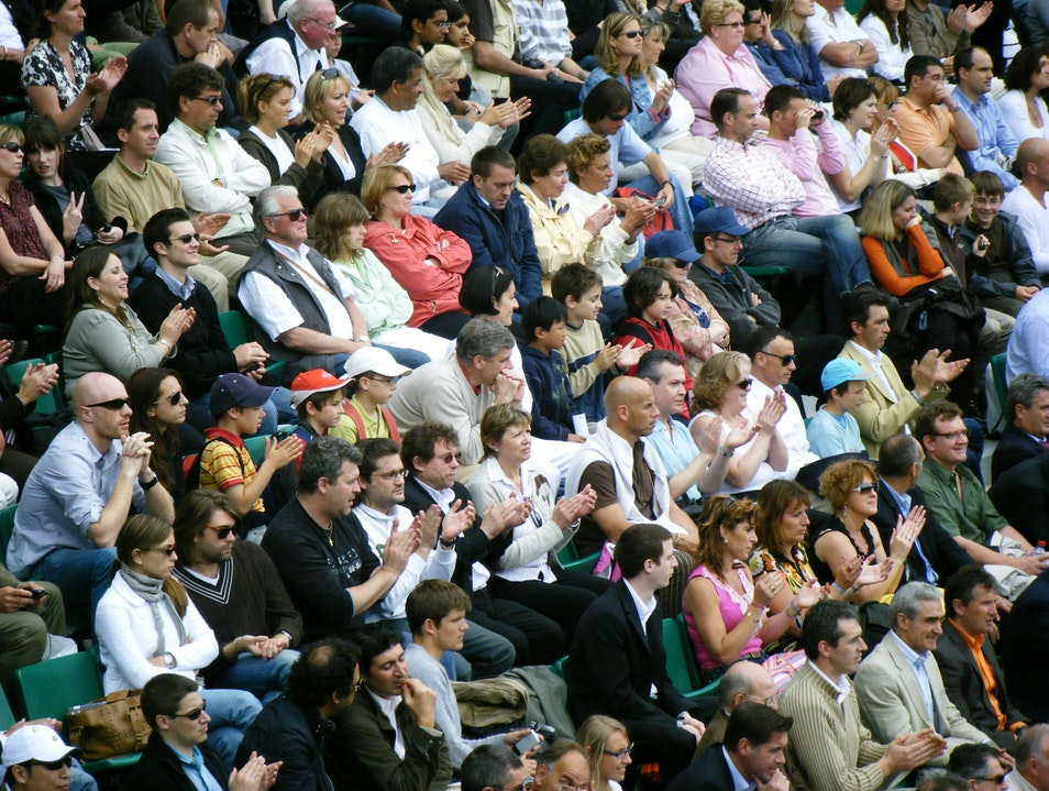 French Open Spectators Paris  France