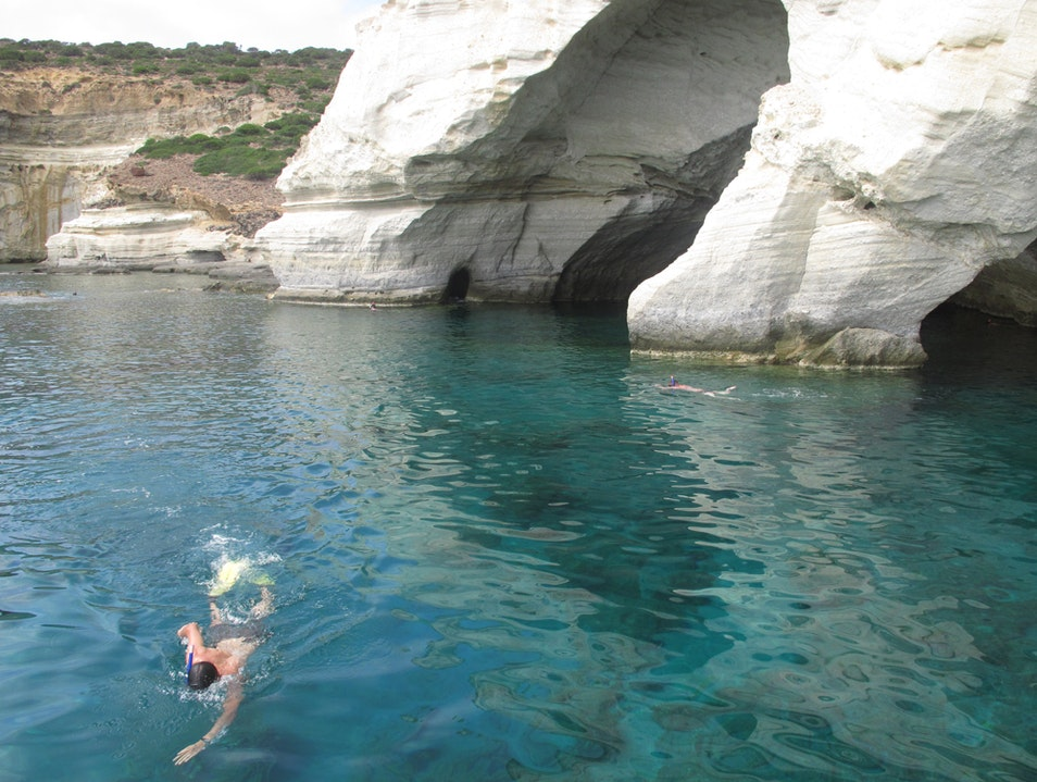 Water like Glass, Rocks from another planet Milos  Greece