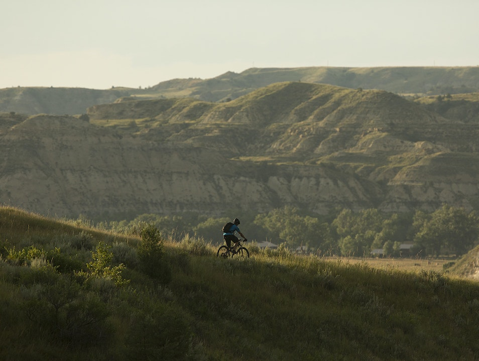 Adventure biking the Maah Daah Hey Medora North Dakota United States